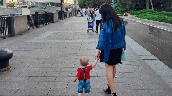 Юлия с сыном