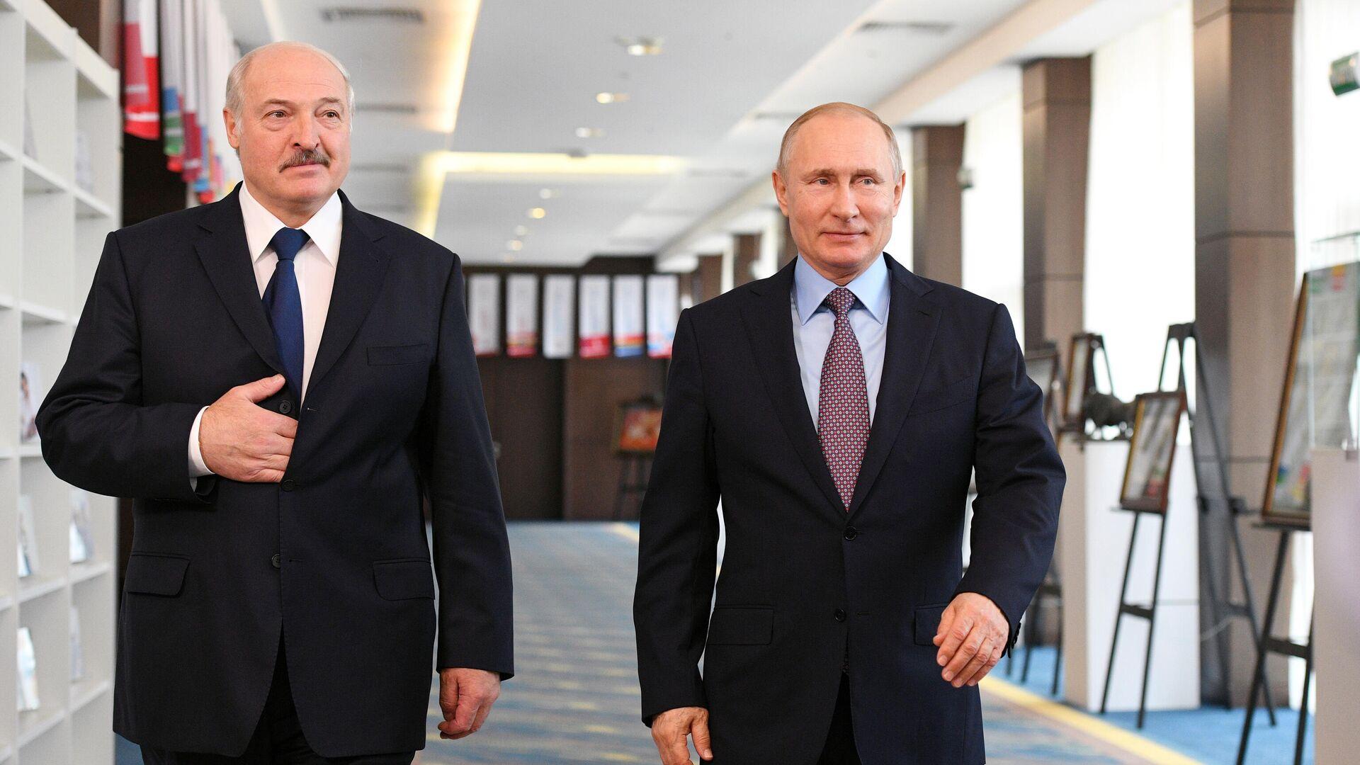 Президент РФ Владимир Путин и президент Белоруссии Александр Лукашенко - РИА Новости, 1920, 10.02.2021