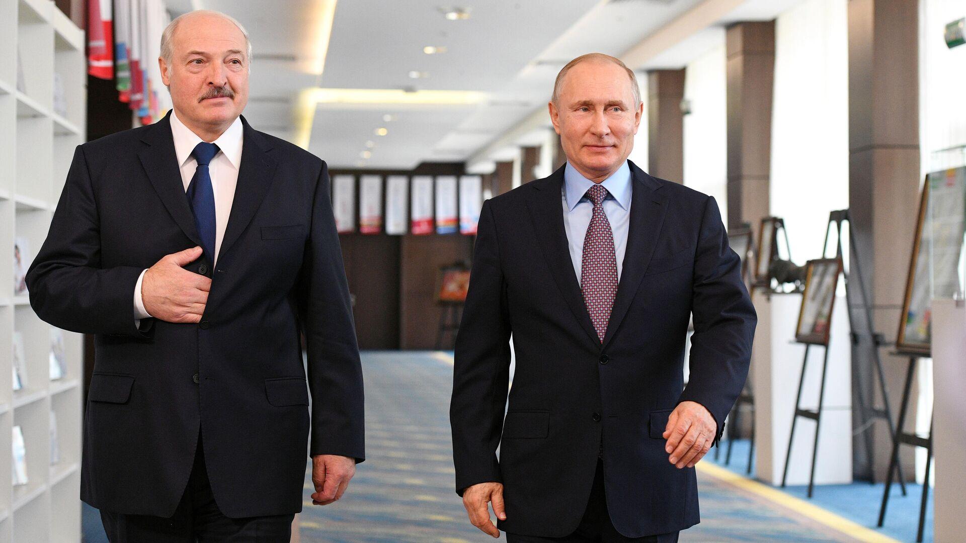 Президент РФ Владимир Путин и президент Белоруссии Александр Лукашенко - РИА Новости, 1920, 28.05.2021