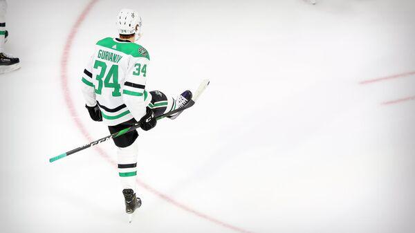Российский нападающий клуба НХЛ Даллас Старз Денис Гурьянов