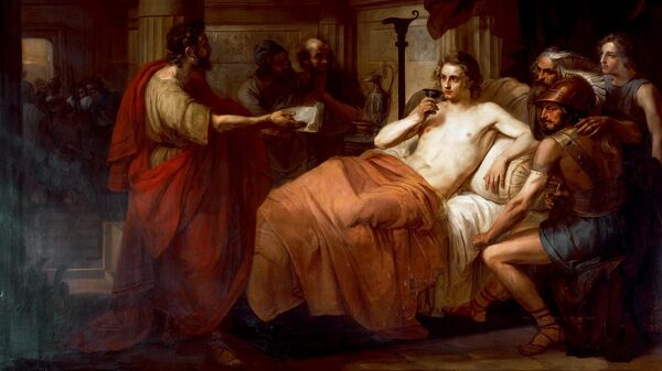 Картина Александр Великий и его врач Филипп