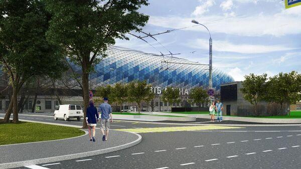 Проект общественного пространства в рамках благоустройства в районе ВТБ Арена - Центральный стадион Динамо