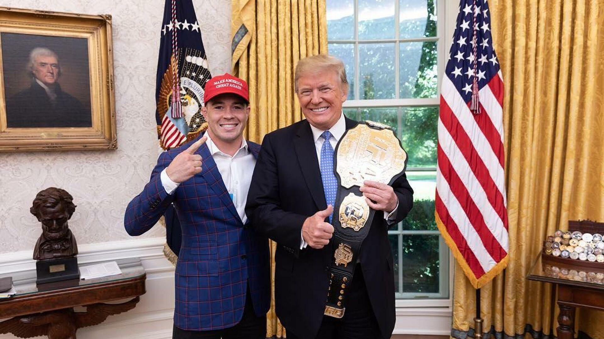 Боец MMA Колби Ковингтон (слева) и президент США Дональд Трамп - РИА Новости, 1920, 18.09.2020