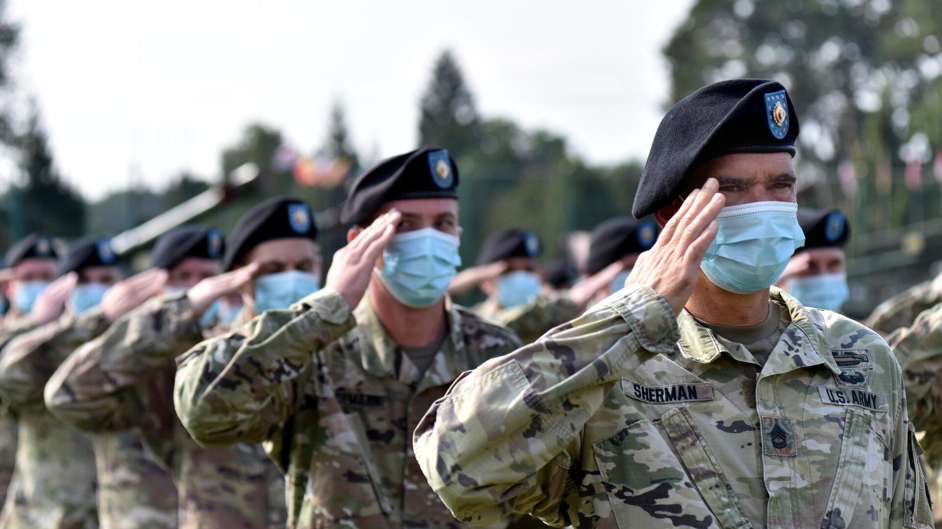 Военнослужащие США на церемонии открытия совместных военных учений Украины и стран НАТО Rapid Trident-2020 - РИА Новости, 1920, 08.05.2021