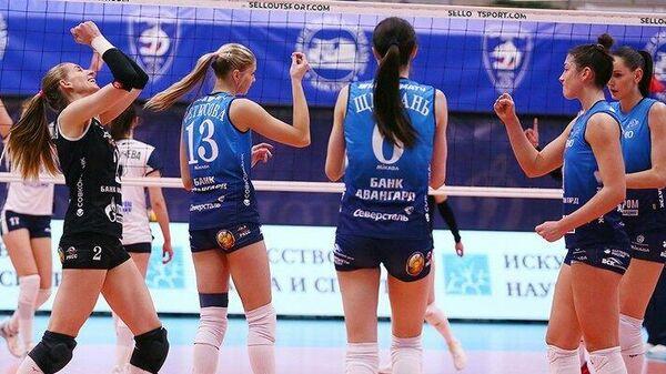 Волейболистки Динамо в матче чемпионата России