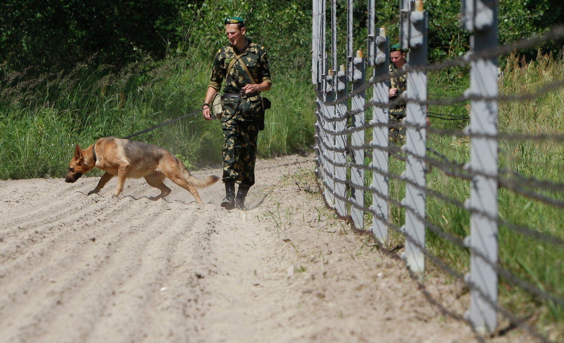 Военнослужащие погранзаставы Брест с собакой охраняют белорусско-польскую границу у города Брест - ПРОФИ Новости, 1920, 18.09.2020