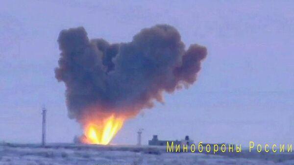 Запуск ракеты комплекса Авангард на полигоне Кура в Камчатском крае. 26 декабря 2018