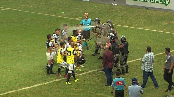 Сотрудники ОМОНа на матче чемпионата Бразилии