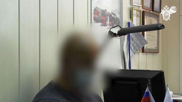 Кадры допроса по делу о причастности бизнесмена А. Быкова к подстрекательству к убийству
