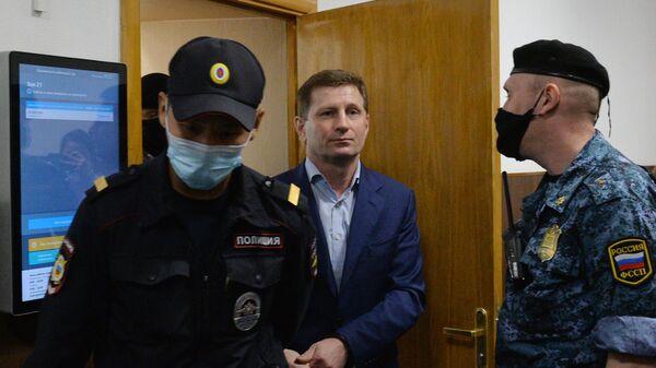 Бывший губернатор Хабаровского края Сергей Фургал в Басманном суде