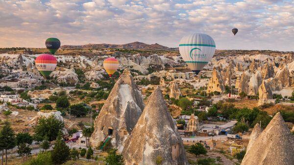 Турция, Каппадокия, полет на воздушном шаре, Гереме