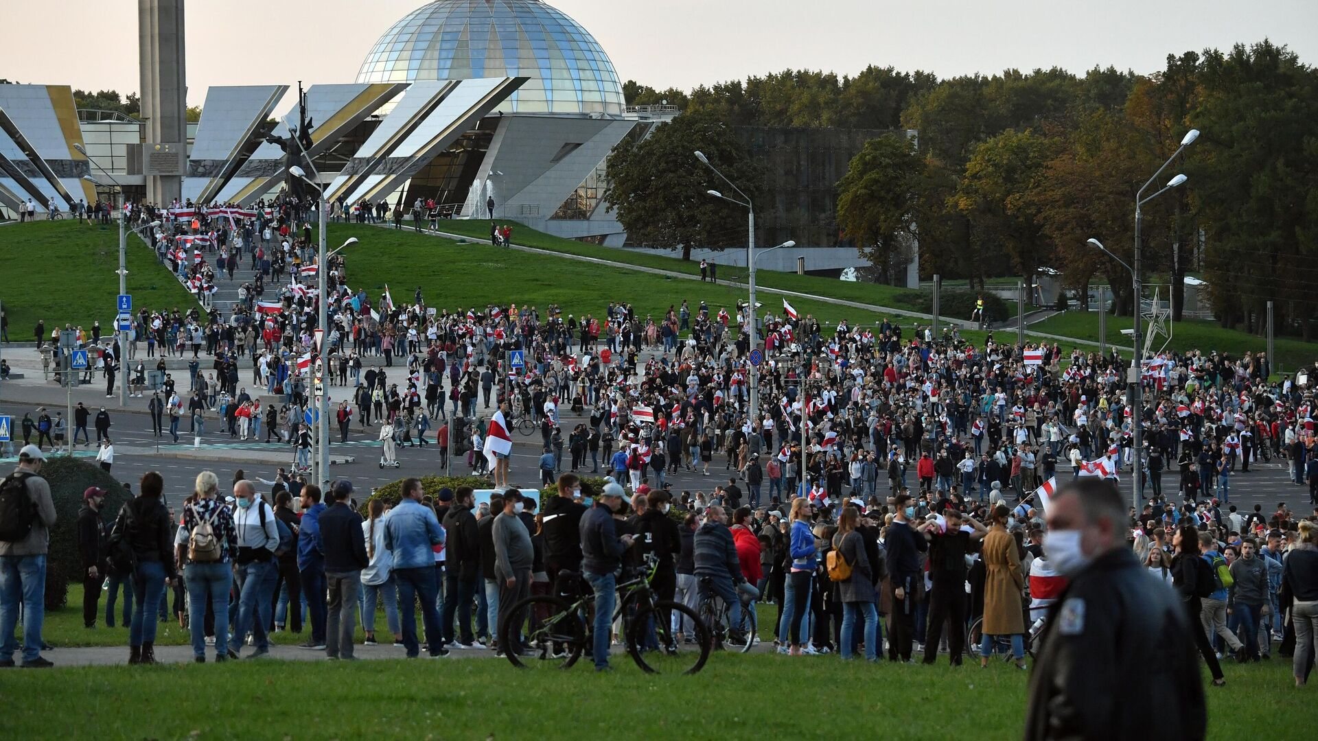 Участники акция протеста оппозиции в Минске - РИА Новости, 1920, 23.09.2020
