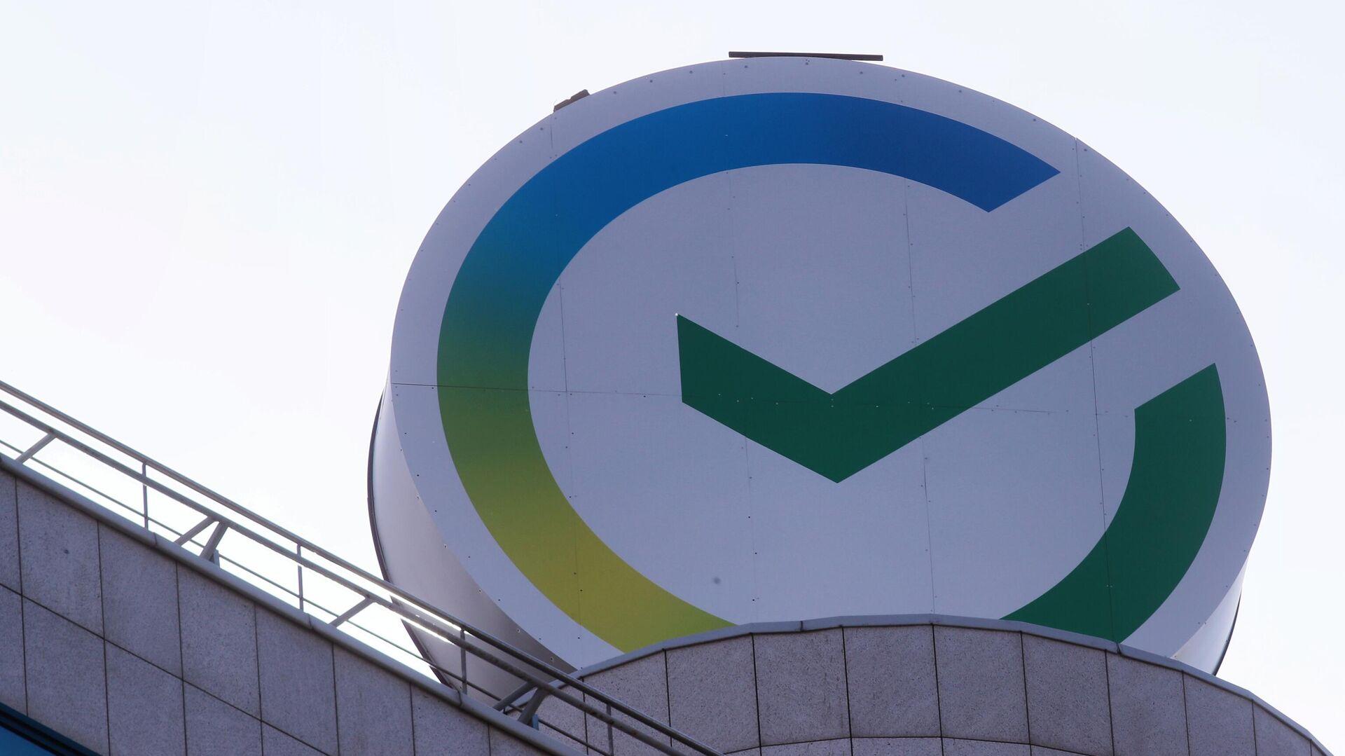 Новый логотип Сбербанка на здании центрального офиса в Москве - РИА Новости, 1920, 25.09.2020