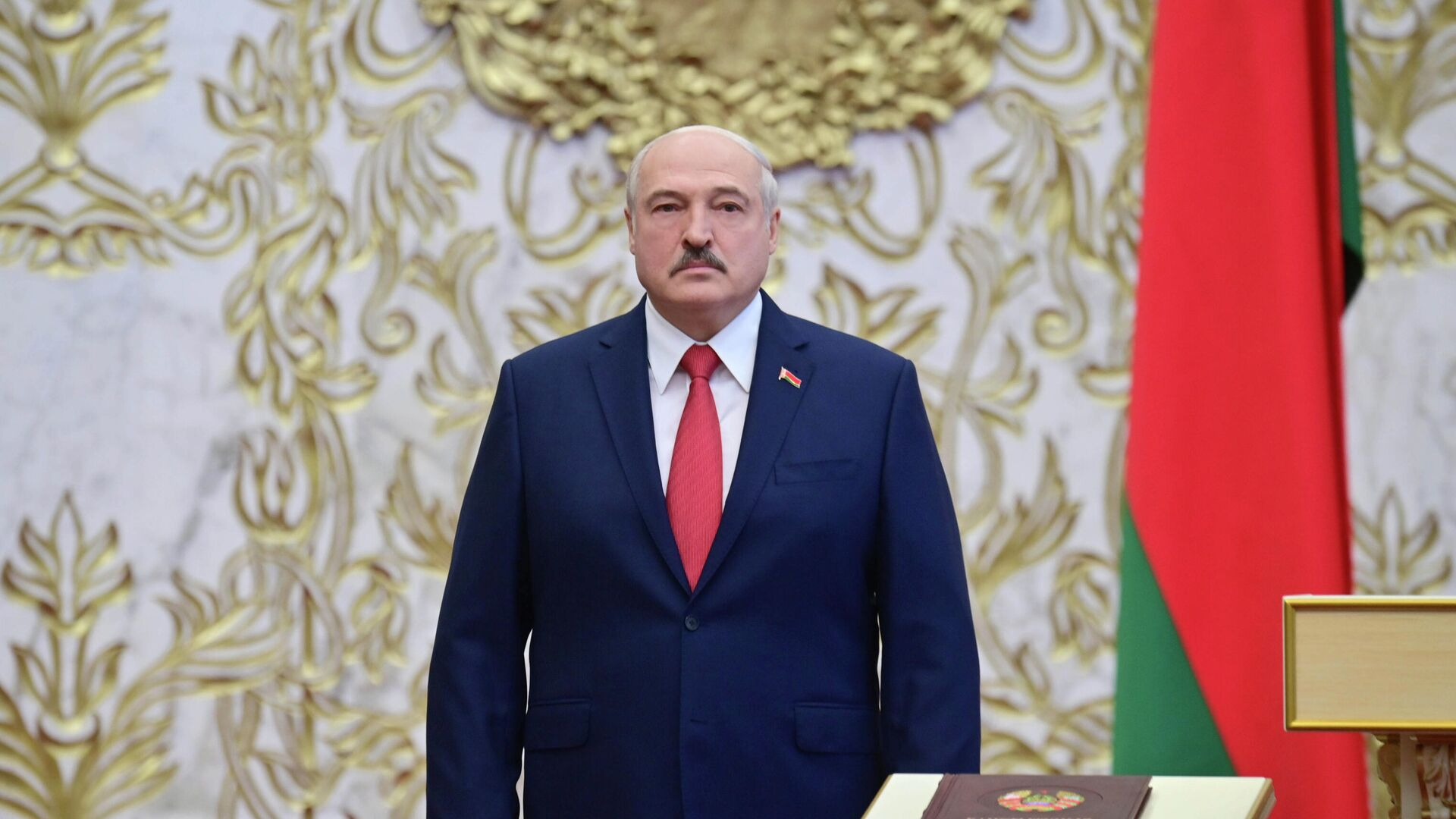 Президент Белоруссии Александр Лукашенко на церемонии инаугурации в Минске - РИА Новости, 1920, 13.11.2020