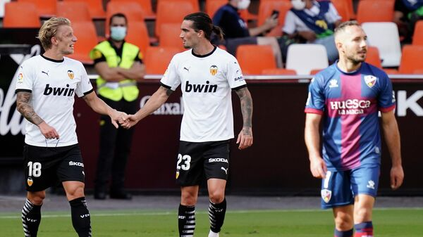 Футболисты Валенсии и Уэски