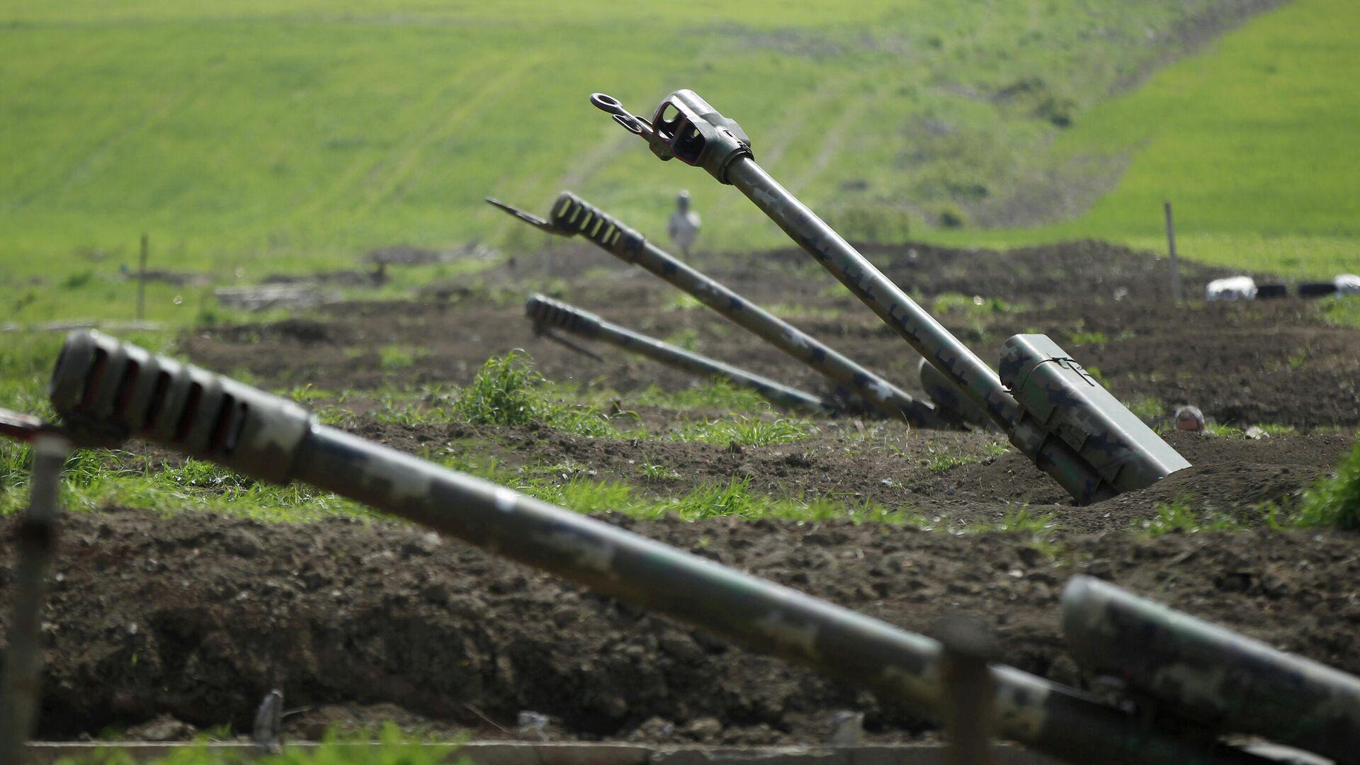Артиллерия вооруженных сил Армении в зоне Нагорного Карабаха - РИА Новости, 1920, 28.09.2020