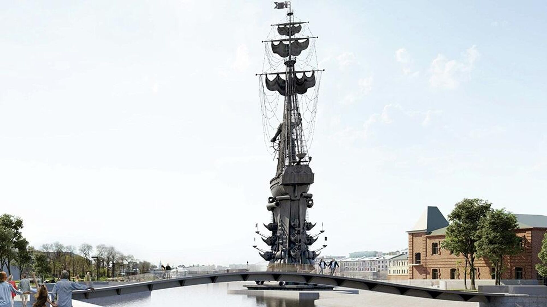 Проект моста через Водоотводный канал в Москве - РИА Новости, 1920, 28.09.2020