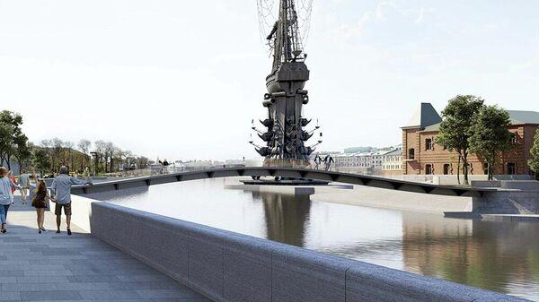 Проект моста через Водоотводный канал в Москве