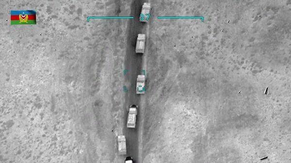 Уничтожение колонн противника в Карабахе. Кадры Минобороны Азербайджана