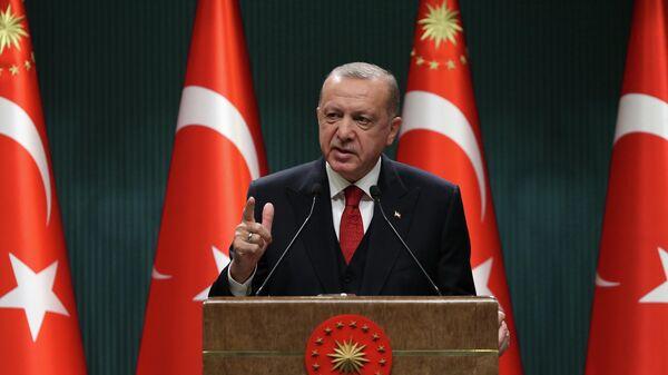 Президент Турции Реджеп Тайип Эрдоган в Анкаре
