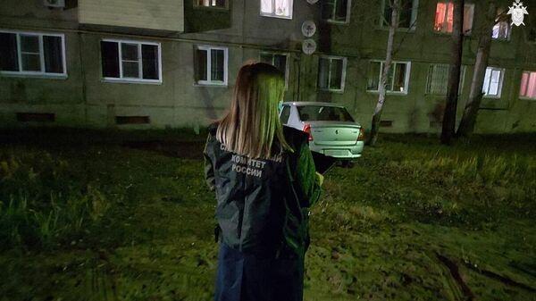 Сотрудник Следственного комитета РФ на месте стрельбы в деревне Большеорловское Борского района Нижегородской области
