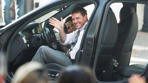 Актер Том Круз на съемках фильма Миссия невыполнима 7 во время съемок в Риме, Италия