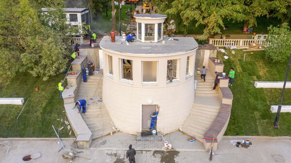 Восстановление исторического здания диспетчерской на территории Северного речного вокзала