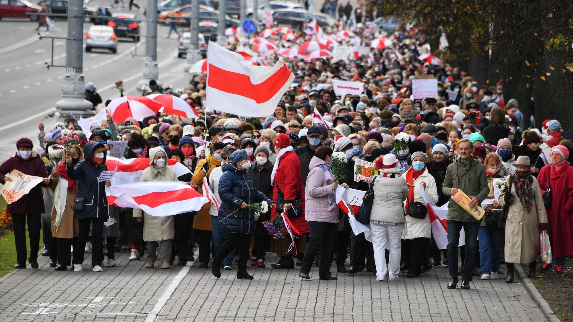 Участники акции протеста пенсионеров Марш мудрости в Минске - РИА Новости, 1920, 23.10.2020