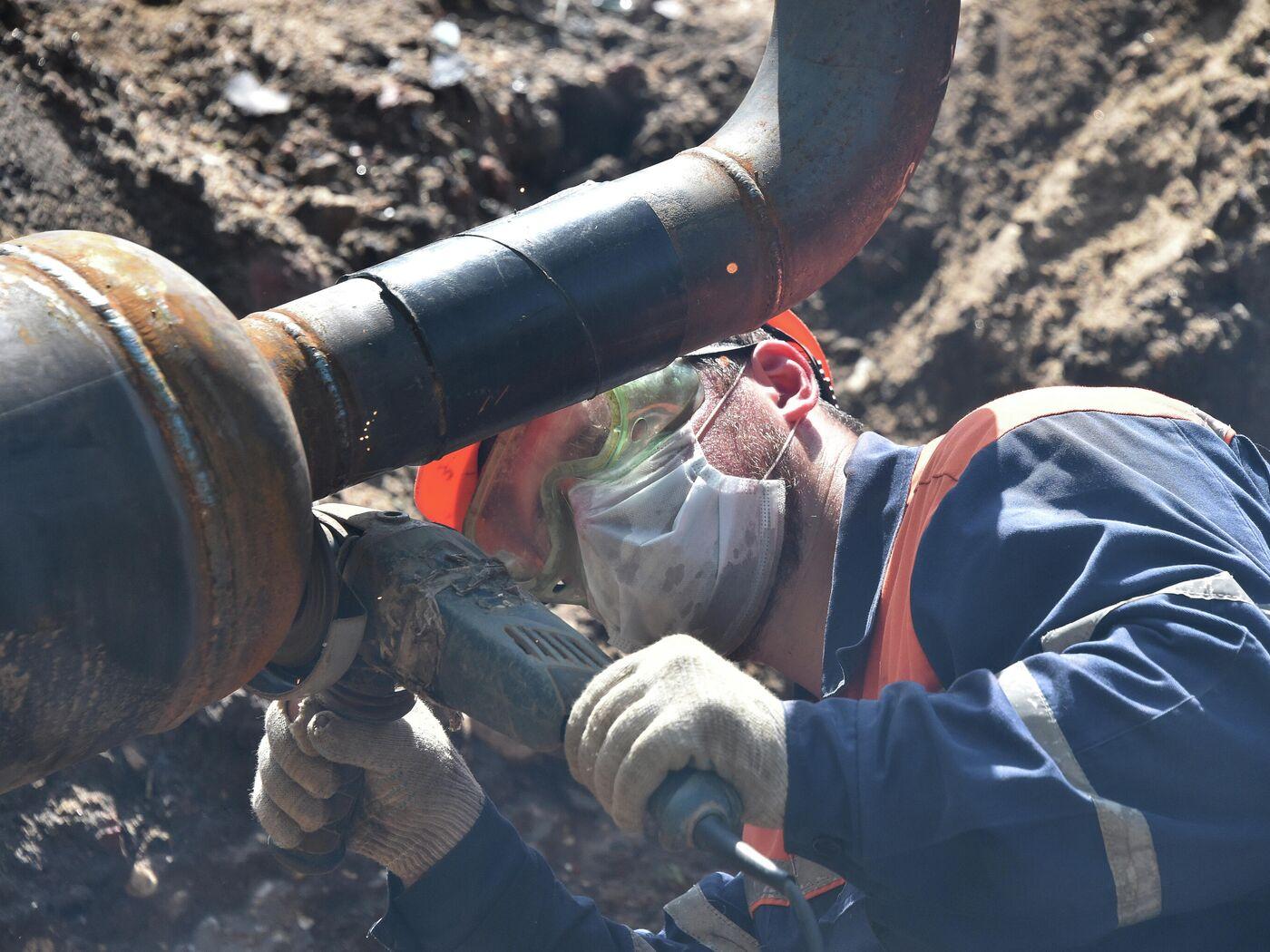 """""""Мосгаз"""" реконструирует газопровод на юге Москвы ..."""
