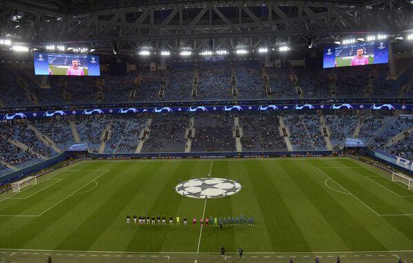 Стадион Зенит-Арена перед матчем Лиги чемпионов Зенит — Брюгге