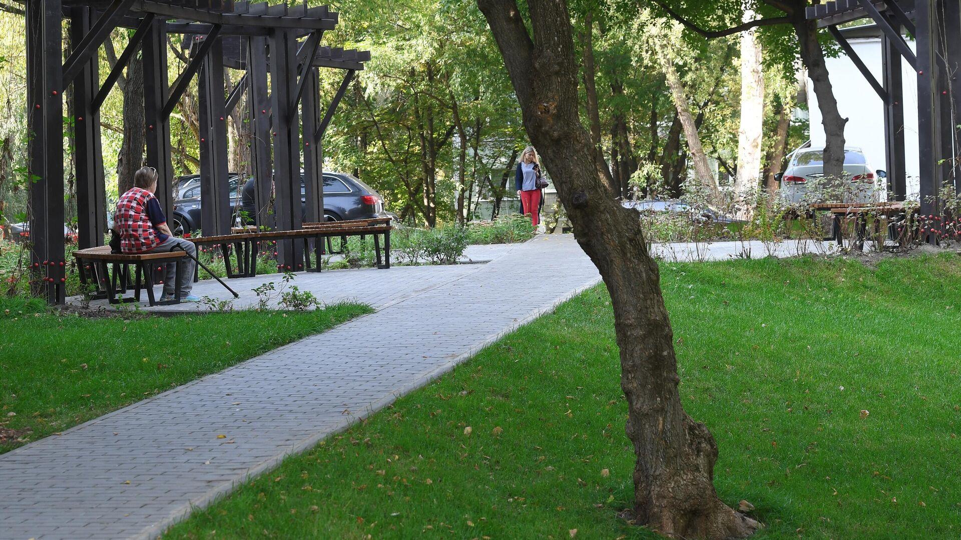 Благоустроенная территория парка - РИА Новости, 1920, 17.05.2021