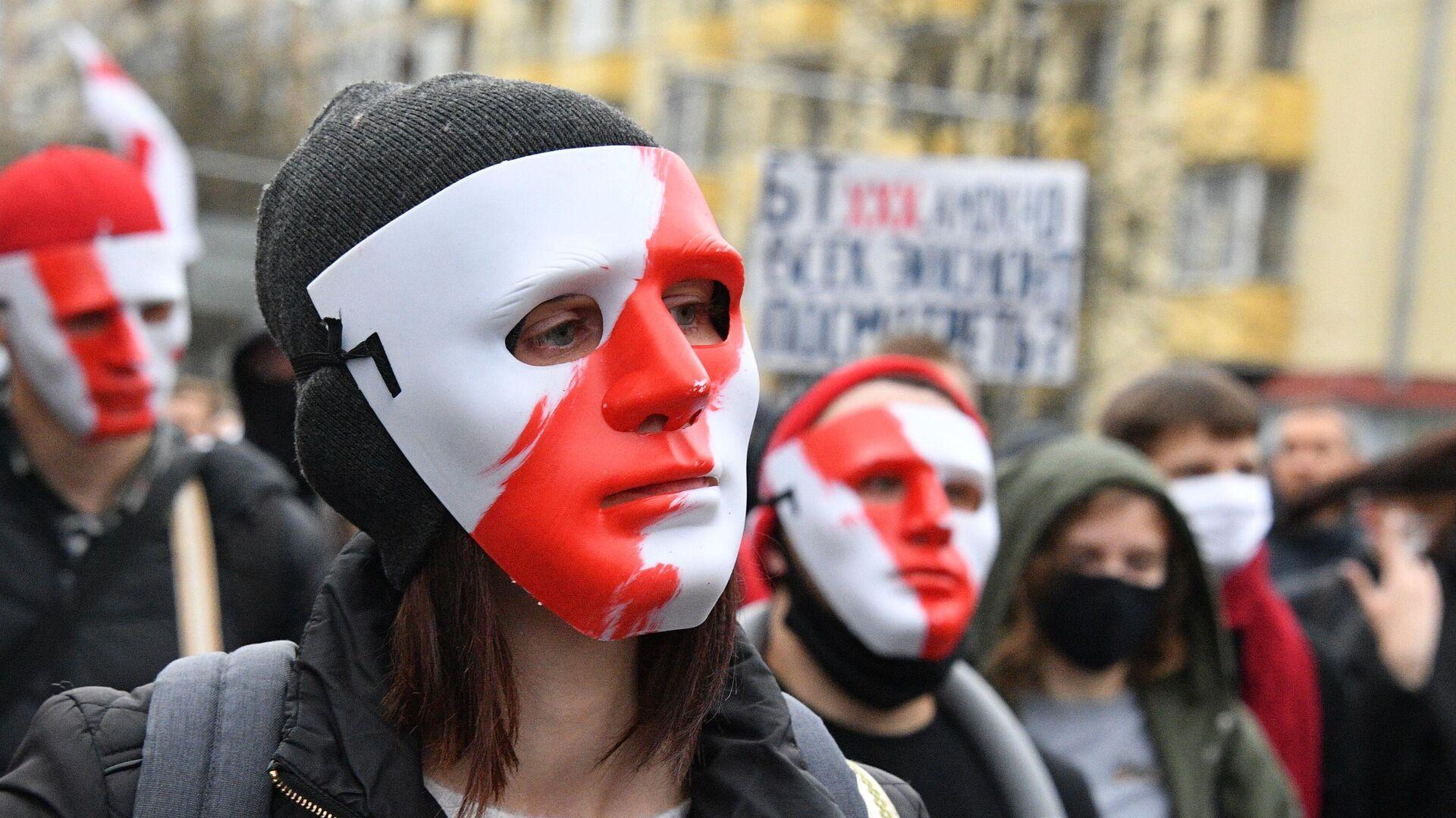 Участники акции протеста оппозиции Народный ультиматум в Минске - РИА Новости, 1920, 12.06.2021