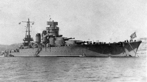 Линейный корабль Новороссийск в Севастополе, начало 1950-х годов