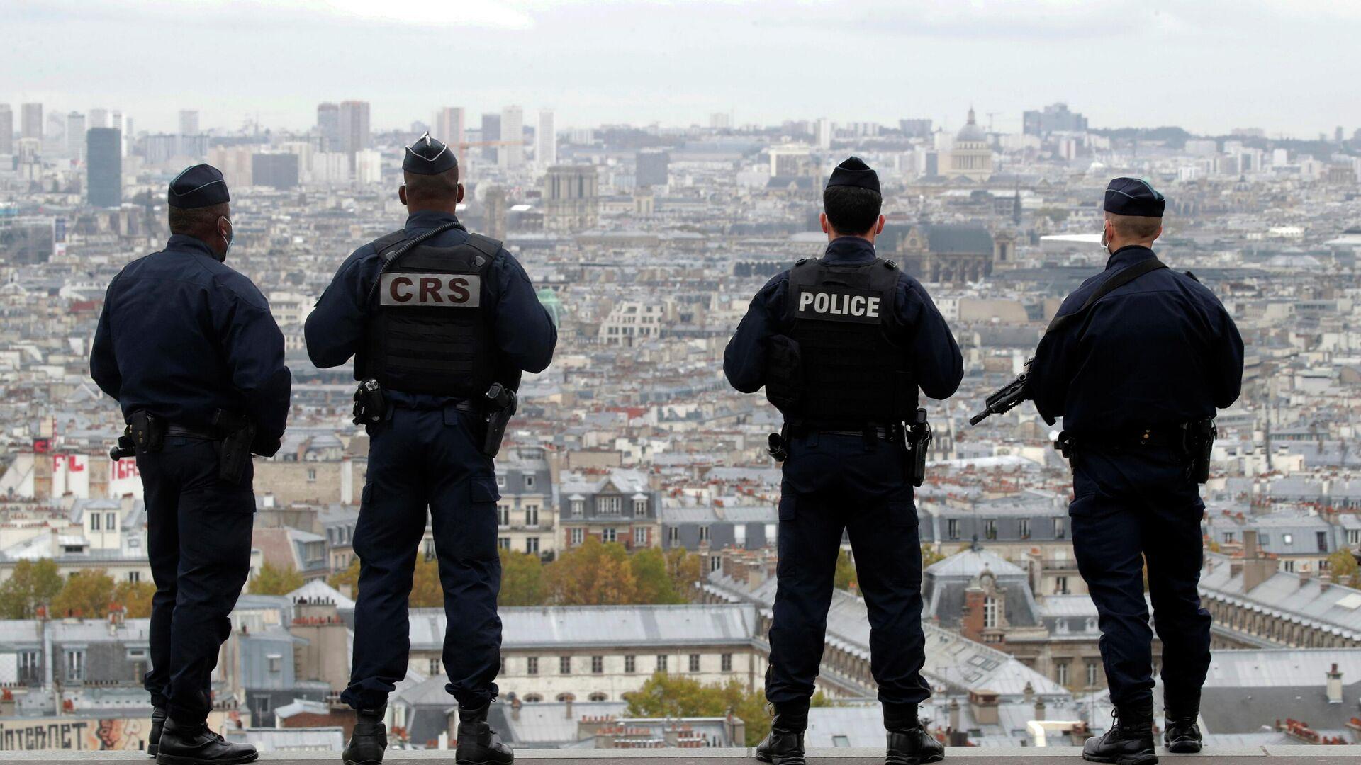 Сотрудники полиции и спецслужб Франции в Париже - РИА Новости, 1920, 06.11.2020