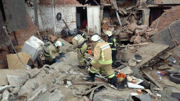 На месте взрыва в гаражном кооперативе в Мытищах