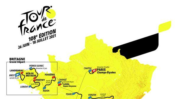 Маршрут Тур де Франс 2021 года