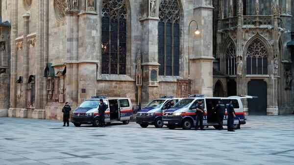 Полиция на утро после перестрелки в Вене, Австрия