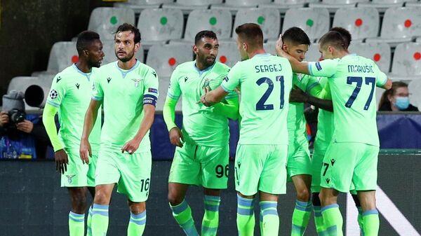 Футболисты Лацио в матче Лиги чемпионов