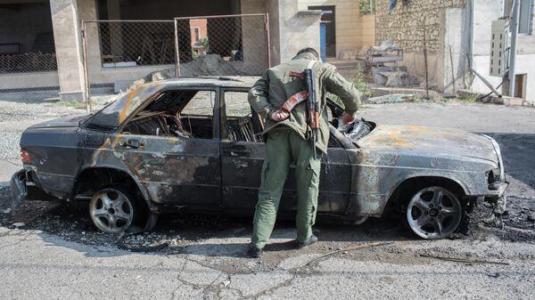 Последствия вечернего обстрела Степанакерта