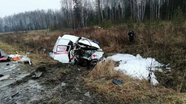 ДТП с участием автомобиля скорой помощи в Пермском крае