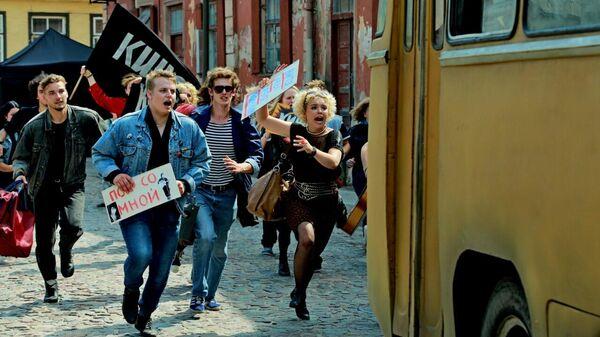 Кадр из фильма Цой