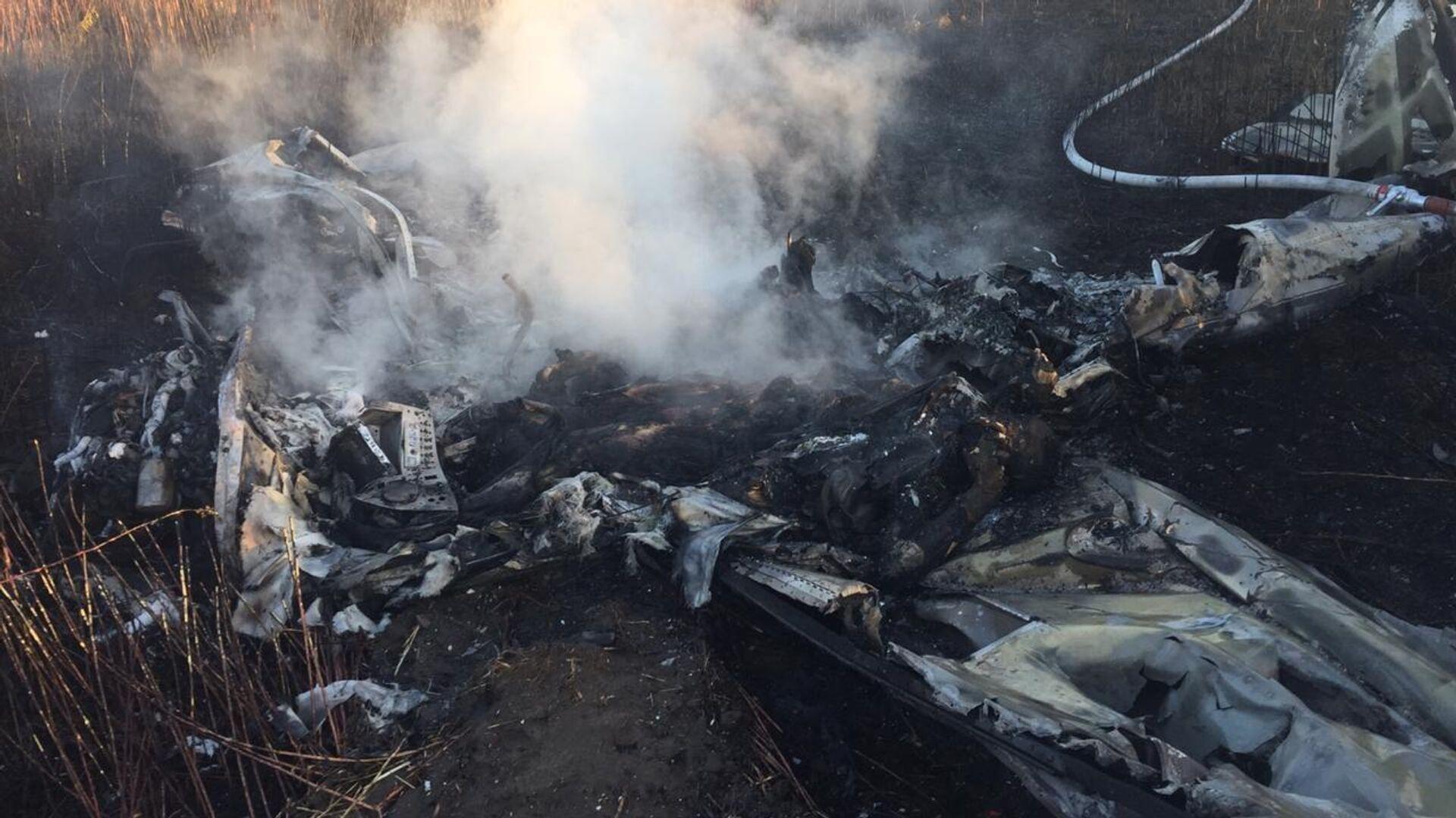 На месте аварийной посадки легкомоторного самолета в городском округе Люберцы - РИА Новости, 1920, 07.11.2020