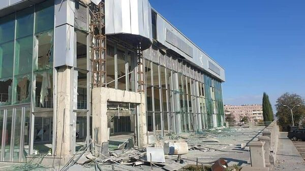 Последствия ночного обстрела Степанакерта