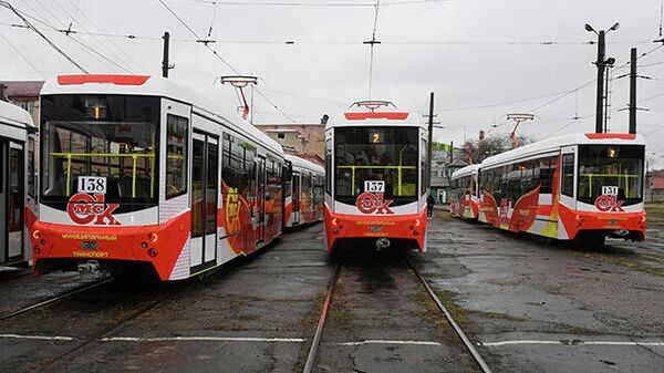 Новые трамваи Спектр от Уралвагонзавода вышли на маршрут в Омске
