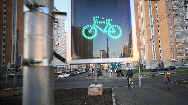 Новый светофор для велосипедистов в Москве