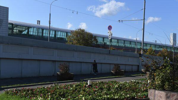 Станция МЦК Лужники в Москве