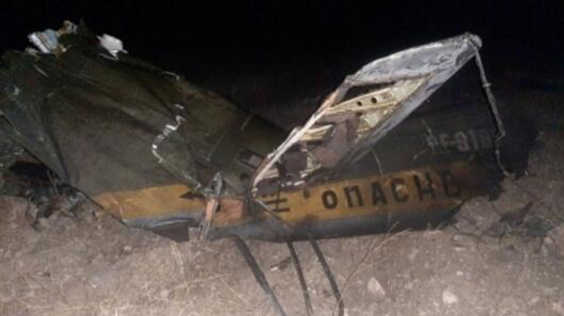 Обломки российского вертолета Ми-24, сбитого в воздушном пространстве над территорией Армении вне зоны боевых действий - РИА Новости, 1920, 14.11.2020