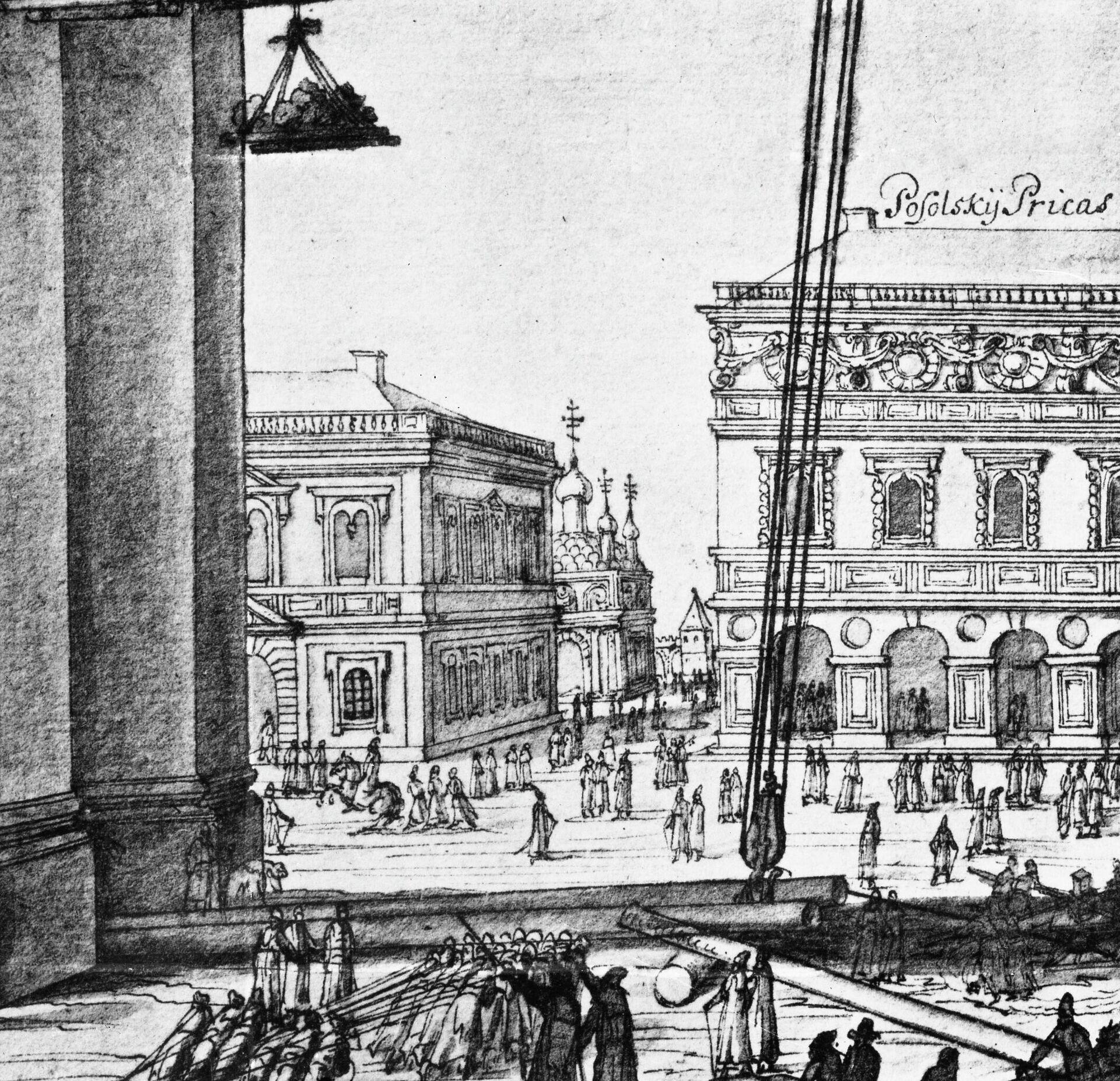 Посольский приказ в Москве, в Кремле. 1674 год - РИА Новости, 1920, 13.11.2020