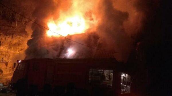 Пожар в Кизилташском монастыре в Крыму
