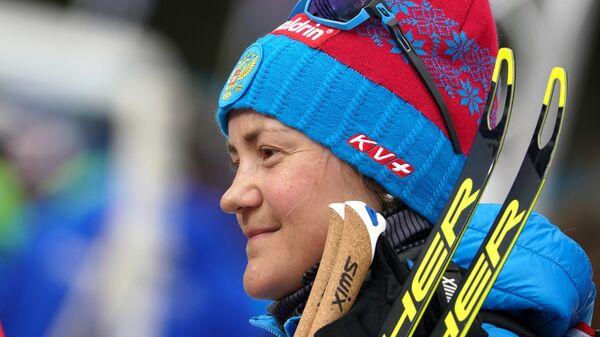 Биатлонистка Екатерина Юрлова-Перхт (Россия)